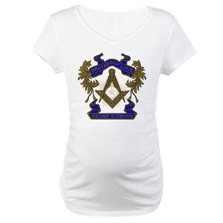Ornate Freemason Maternity T-Shirt