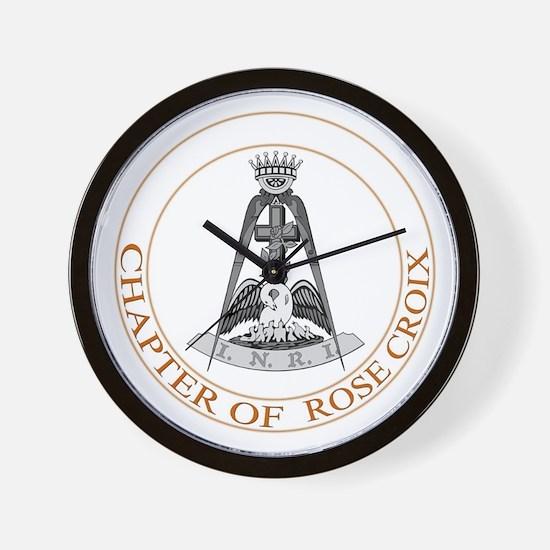 Rose Croix Wall Clock