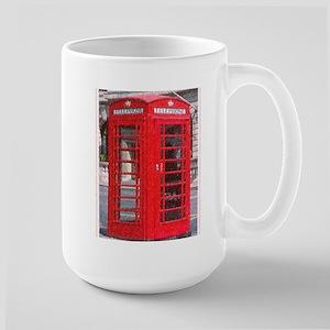 British Phone Booth Large Mug