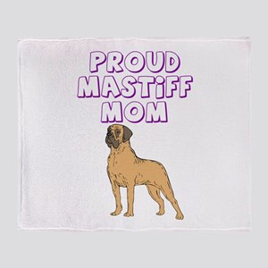 Proud Mastiff Mom Throw Blanket