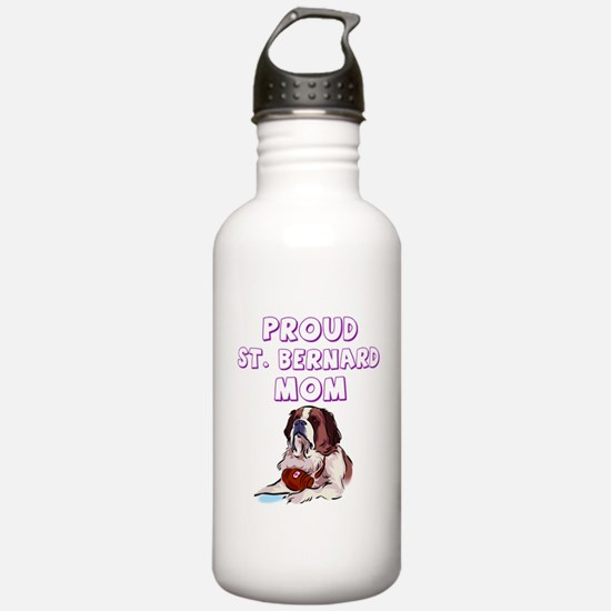 Proud St. Bernard mom Water Bottle