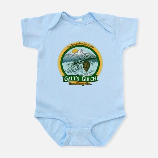Galt's Gulch Green/Gold Infant Bodysuit