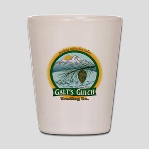 Galt's Gulch Green/Gold Shot Glass