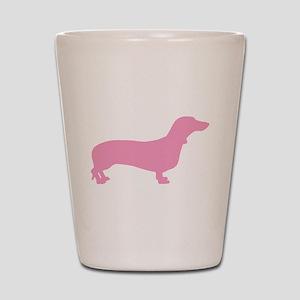 Pink Dachshund Shot Glass