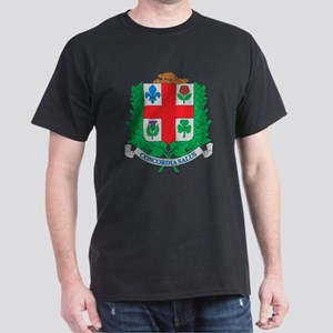 Montreal Coat Of Arms Black T-Shirt
