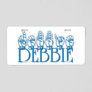 Debbie-blu Aluminum License Plate