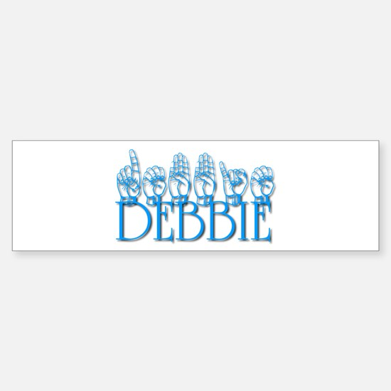 Debbie-blu Sticker (Bumper)