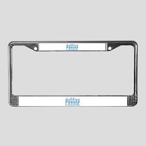 Debbie-blu License Plate Frame