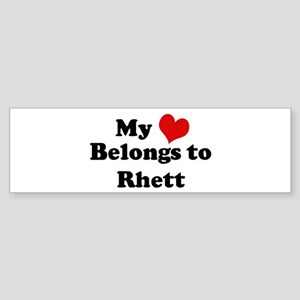 My Heart: Rhett Bumper Sticker