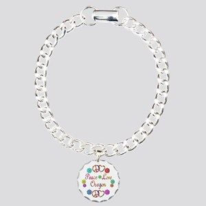 Peace Love Oregon Charm Bracelet, One Charm
