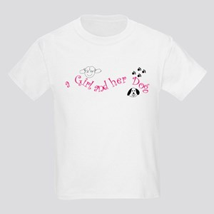 a Girl and her Dog Kids Light T-Shirt