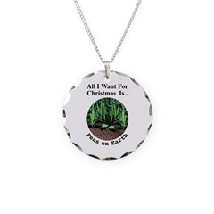 Xmas Peas on Earth Necklace
