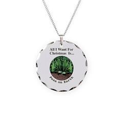 Xmas Peas on Earth Necklace