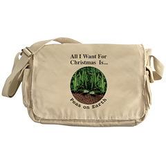 Xmas Peas on Earth Messenger Bag