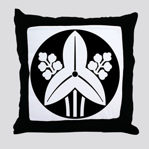 Standing arrowhead in rice cake Throw Pillow