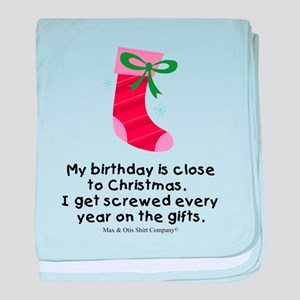 My birthday is close to Chris baby blanket