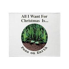 Xmas Peas on Earth Throw Blanket