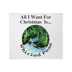 Christmas Peas Throw Blanket