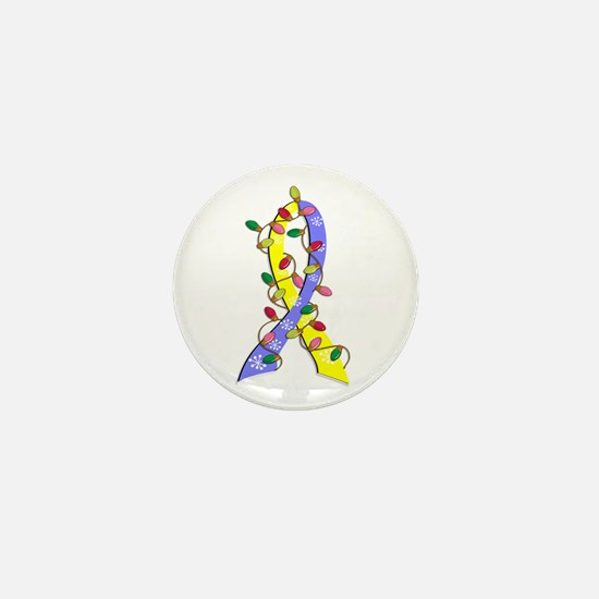 Christmas Lights Ribbon Down Syndrome Mini Button