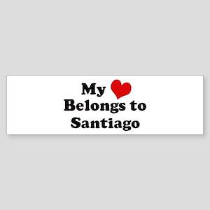 My Heart: Santiago Bumper Sticker