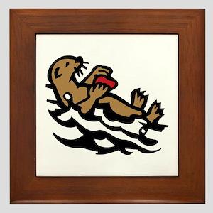 Sea otter Framed Tile