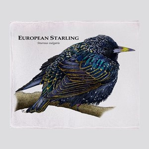 European Starling Throw Blanket