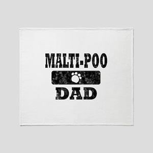 Malti-Poo Dad Throw Blanket