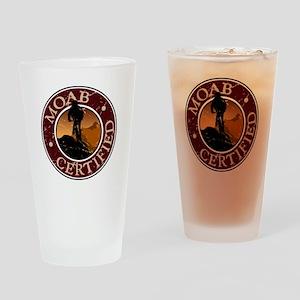Moab Certified - Mountain Biker Drinking Glass