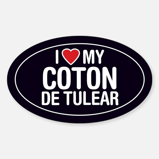 I Love My Coton de Tulear Oval Sticker/Decal