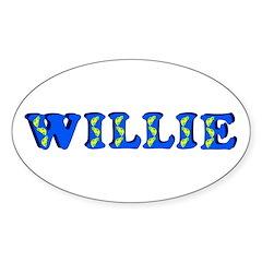 Willie Sticker (Oval)