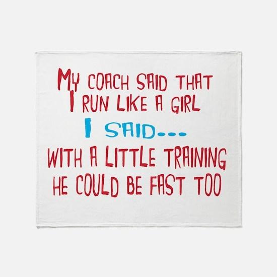 My coach Throw Blanket