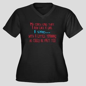 My coach Women's Plus Size V-Neck Dark T-Shirt