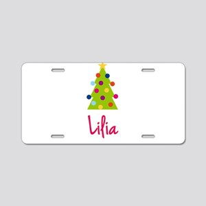 Christmas Tree Lilia Aluminum License Plate