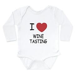 I heart wine tasting Long Sleeve Infant Bodysuit