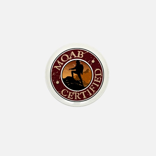 Moab Certified - Girl Hiker Mini Button