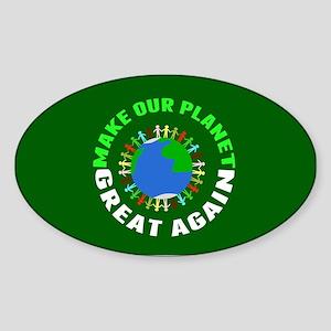 Make Planet Great Sticker (Oval)