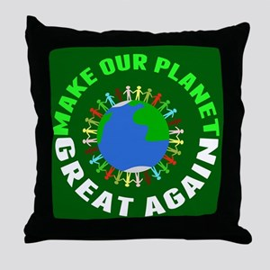Make Planet Great Throw Pillow