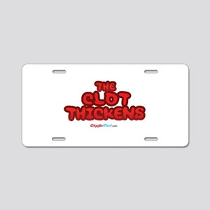 Clot Thickens 04 Aluminum License Plate