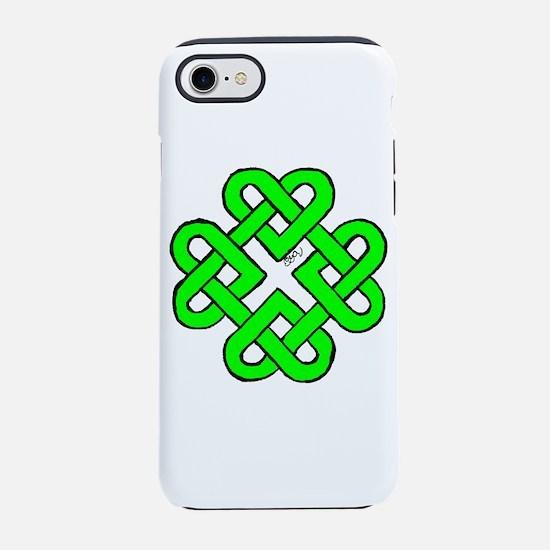 Green Celtic Hearts iPhone 7 Tough Case