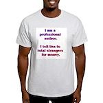Professional Author w/ AW URL on back White Tee