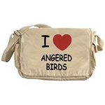 I heart angered birds Messenger Bag