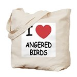 I heart angered birds Tote Bag