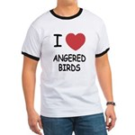 I heart angered birds Ringer T