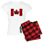 Canada Flag Pajamas Women's Canada Pajamas