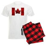 Canada Flag Pajamas Men's Canada Pajamas