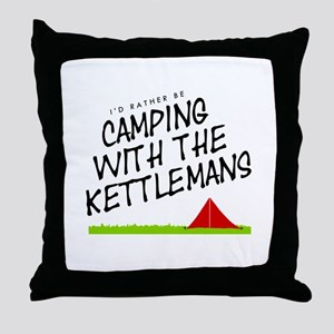 'Camping with the Kettlemans' Throw Pillow