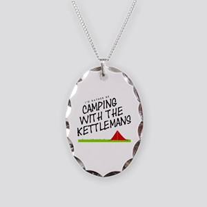 'Camping with the Kettlemans' Necklace Oval Charm