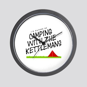 'Camping with the Kettlemans' Wall Clock