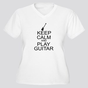 Keep Calm Play Guitar (Electric) Women's Plus Size
