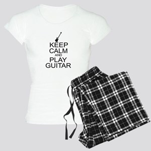 Keep Calm Play Guitar (Electric) Women's Light Paj